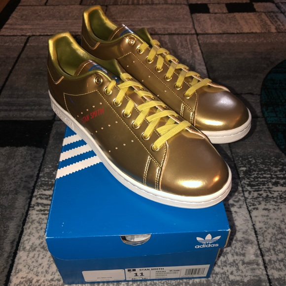 Men's Gold Stand Smiths